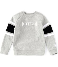 Nike Little Boys 2T-7 Long-Sleeve Nike Air Crew Pu