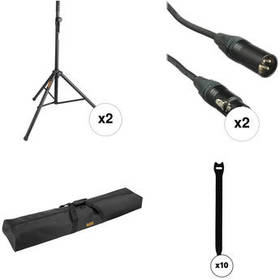 Auray Speaker Stand Accessory Kit with Cables, Bag