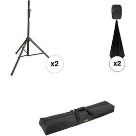 Auray SS-4420 Dual Speaker Stand Kit with Scrims a