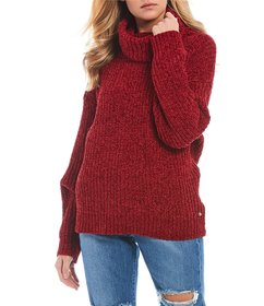 Roxy Velvet Morning Turtleneck Chenille Sweater