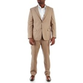 NAUTICA Mens Tan Textured 2-Piece Traditional Fit