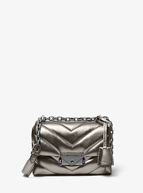 Michael Kors Cece Extra-Small Quilted Metallic Lea