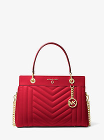 Michael Kors Susan Medium Quilted Leather Satchel