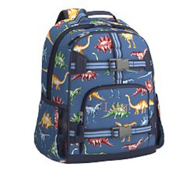 Pottery Barn Mackenzie Blue Multi Dinos Backpack