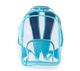 Pottery Barn Casey Turquoise Clear Kids' Backpack