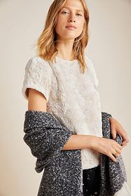 Anthropologie Fluffy Sweater Tee