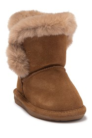 BEARPAW Betsey Faux Fur Trimmed Boot (Toddler)