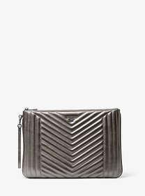 Michael Kors Jet Set Extra-Large Quilted Metallic