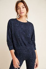 Anthropologie Sundry Python Cropped Pullover