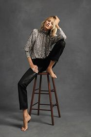 Anthropologie Paige Claudine Coated High-Rise Flar