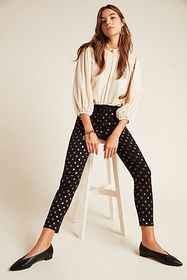 Anthropologie Jen7 by 7 For All Mankind Metallic D