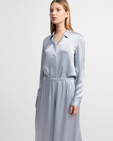 Straight Shirt in Washed Satin
