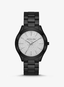 Michael Kors Slim Runway Pavé Black-Tone Watch