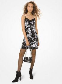 Michael Kors Floral Sequined Slip Dress