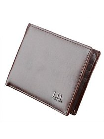 Mens Synthetic Leather Purse Wallet Pockets Credit