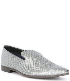 Steve Madden Men's Dieggo Embossed Leather Slip On