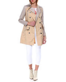 XOXO poly nylon belted trench