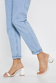 Nasty Gal White Search High and Toe Clear Sandals