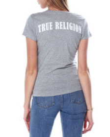 True Religion double puf v neck tee