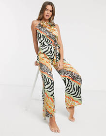America & Beyond Abstract Animal Jumpsuit