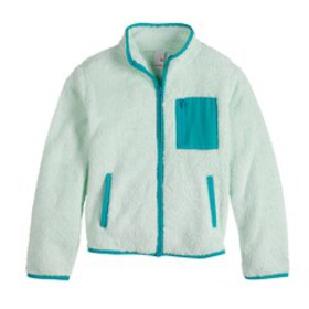 Girls 4-20 & Plus Size SO® Blocked Sherpa Zip Jack