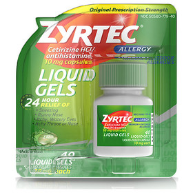 Zyrtec 24 Hour Allergy Relief Antihistamine Capsul