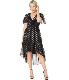 Vince Camuto Printed Chiffon Midi Dress with High-
