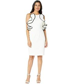 Vince Camuto Halter Dress with Ruffles