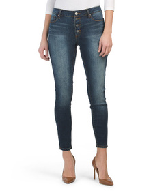 TAHARI Exposed Button Front Jeans