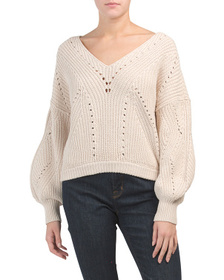 FREE PEOPLE All Day Long V-neck Sweater