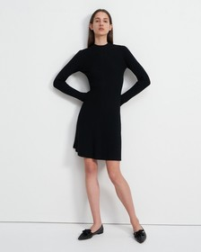 Moving Rib Dress in Merino Wool