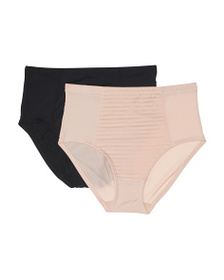 JONES NEW YORK 2pk Tummy Smoother High Waist Brief