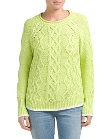 CAMBRIDGE DRY GOODS Cable Knit Cotton Sweater