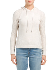 reveal designer Texture Stitch Hooded Sweater