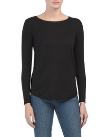 CABLE & GAUGE Hi-lo Pullover Sweater