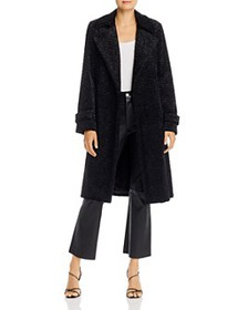 Theory - Oaklane Teddy Belted Trench Coat
