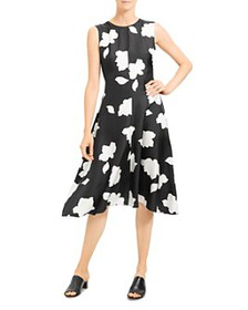 Theory - Nophella Floral-Print Silk Dress