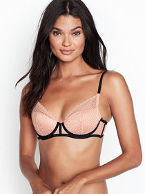 Victoria Secret Fishnet Lace Push-up Bra
