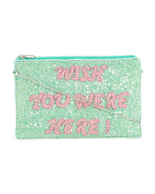 FROM ST. XAVIER Wish You Were Here Wishes Clutch