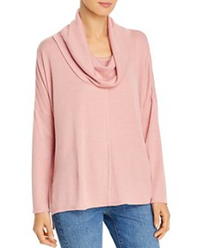 Status by Chenault - Cowl-Neck High/Low Top