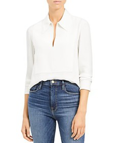 Theory - Paneled Silk Blouse