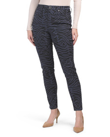 SEVEN7 High Rise Printed Skinny Jeans