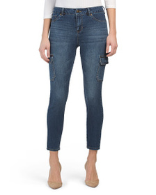 D. JEANS High Waist Cargo Ankle Skinny Jeans