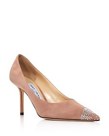 Jimmy Choo - Women's Love 85 Embellished Pointed-T