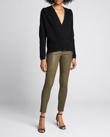 FRAME Cross-Front Cashmere Sweater
