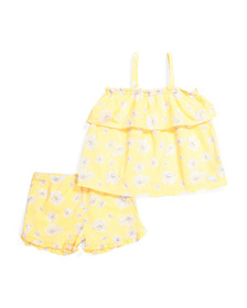 7 FOR ALL MANKIND Little Girls 2pc Floral Seersuck