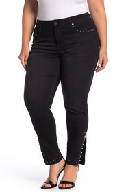 Seven7 Embellished Mid Rise Signature Jeans (Plus