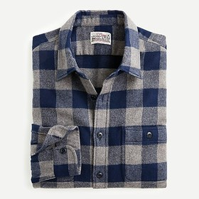 J. Crew Tall midweight flannel shirt in buffalo ch