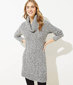 Marled Cable Sweater Dress