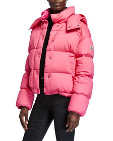Moncler Onia Cropped Puffer Jacket w/ Detachable H
